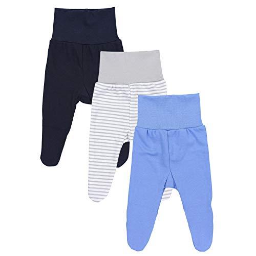 c342bf8fbb TupTam Baby Jungen Strampelhose mit Fuß 3er Pack, Farbe: Farbenmix 1,  Größe: 56