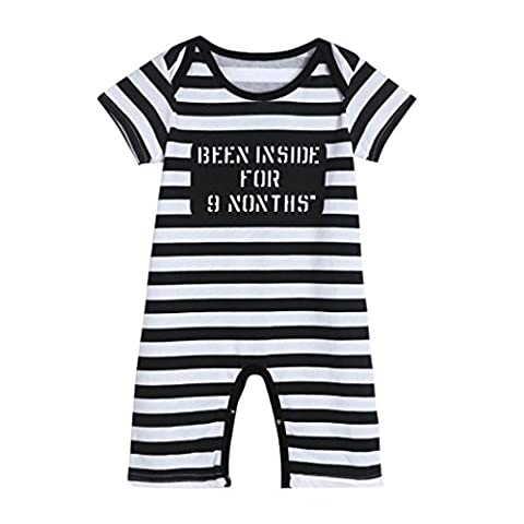 Igemy Newborn Infant Baby Kids Boys Girls Stripe Print Romper