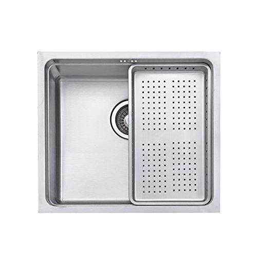 Jass Ferry lavello in acciaio INOX, lavello da cucina colino profondo 1.0singola ciotola quadrata con scolapiatti rack 10anni di garanzia