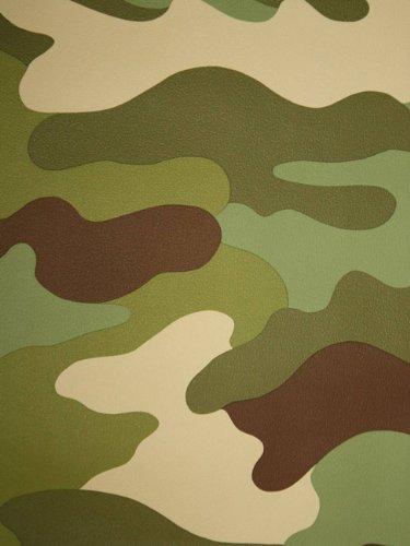 Carta Da Parati Mimetica.Carta Da Parati Mimetica Militare Rotolo Da 10 5 Metri Di Carta Da