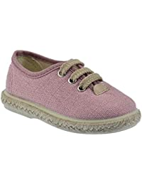 Zapato Casual en Tejido Lino Color Rosa Palo y Piso de Yute