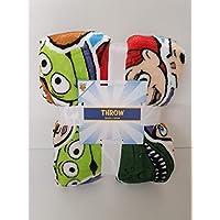Licensed_Primark TOY STORY 4 Throw Soft Bed Blanket 120cm x 150cm Disney Pixar Woody Buzz Characters