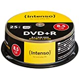 Intenso 4311144 DVD+R 8x Duel Layer 25 Pack Cakebox