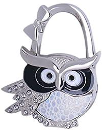 MagiDeal Assorted Owl Design Brilliant Handbag Purse Lock Hanger Hook H for Ladies - #6