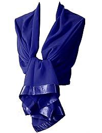 Etole écharpe chale en mousseline et satin idéal cérémonie soirée 52d66976897