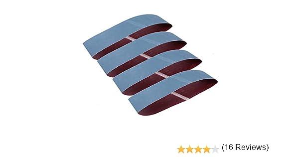 Goodchanceuk 10,2/x 91,4/cm 1000/Grain Lot de 4/bandes abrasives abrasif pour pour meulage en oxyde daluminium Sable Pad Bleu Bandes 100/x 915/mm