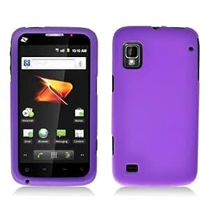 Aimo Wireless ZTEWARPPCLP014 Rubber Essentials Slim and Durable Rubberized Case for ZTE Warp N860 - Retail Packaging - Purple