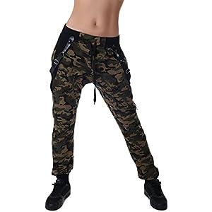 Camouflage Jogginghose Boyfriendhose Bagyyhose mit Hosentäger von Crazy Age...
