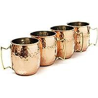 Taza Moscow Mule de Zap Impex® revestida con níquel, hecha a mano, de cobre puro martilleado (4)