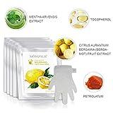 5 paia idratanti Guanti | Maschere naturali e organici idratante a mano per pelli secche | Collagene Trattamento di benessere con la vitamina C | Guanti idratante professionali per Brightening Skins
