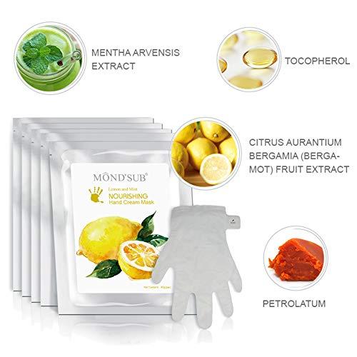 5 pares guantes hidratantes Máscaras naturales orgánicos