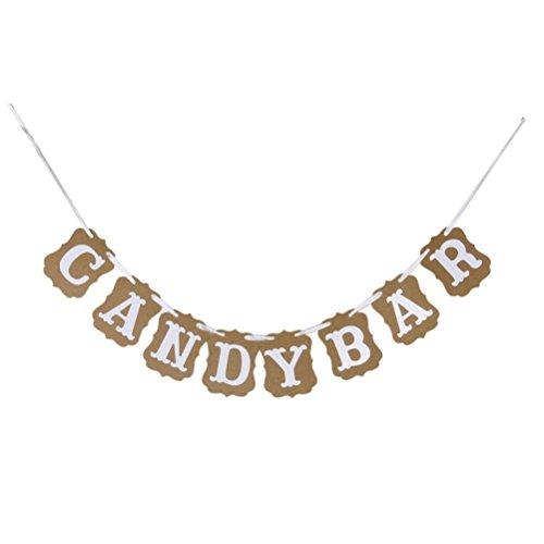 Dekorationen Candy-bar Zubehör Ammer Banner Papier ()
