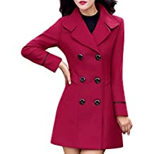 Modaworld_Chaqueta de mujer Chaqueta Mujer de Abrigo, Chaqueta de Abrigo de Invierno Abrigo de Lana