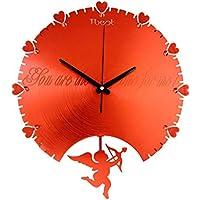 Wanduhr Creative Mute Mode Uhr Quarzuhr Metall (Farbe : Red) preisvergleich bei billige-tabletten.eu