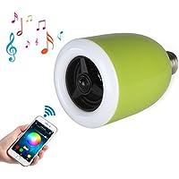 Smart LED Lampadina altoparlante Bluetooth, zonv 6W E27Lampada RGB Wireless Stereo Audio Smartphone controllata dimmerabili multicolore luci che cambiano colore per iPhone, iPad, telefono Android, Tablet, colore: verde