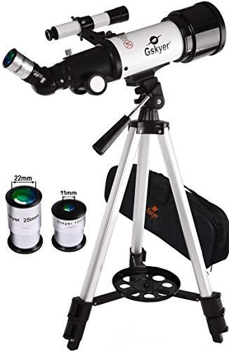 Gskyer, telescopio rifrattore da viaggio, modello AZ70400, tecnologia tedesca