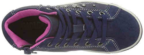 indigo by Clarks Sneaker, Baskets hautes fille Bleu - Blau (830 NAVY VL)