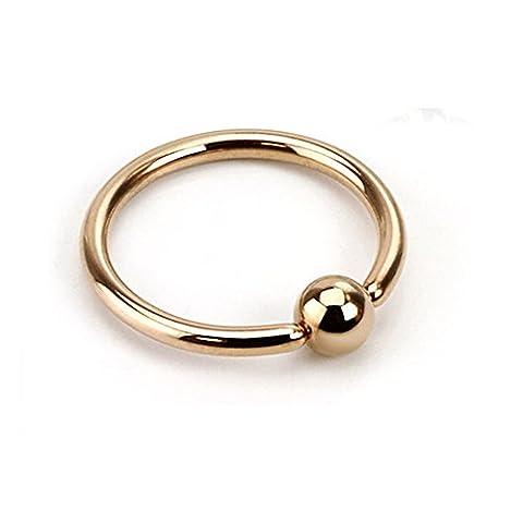 PiercedOff Piercing anneau captif or rosé 16GA (1.2mm x 10mm x 4mm)