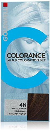 Goldwell Colorance pH 6,8 Colorations Set 4N, mittelbraun, 1er Pack, (1x 90 ml)