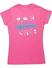 HippoWarehouse Son Cosas de Enfermeras camiseta manga corta ajustada para mujer