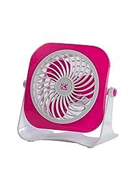 Team-Kalorik-Group USB Ventilator für den Schreibtisch, Ein- / Aus-Schalter, 1 Stück, rosa/weiß, TKG VT 1022 PINK