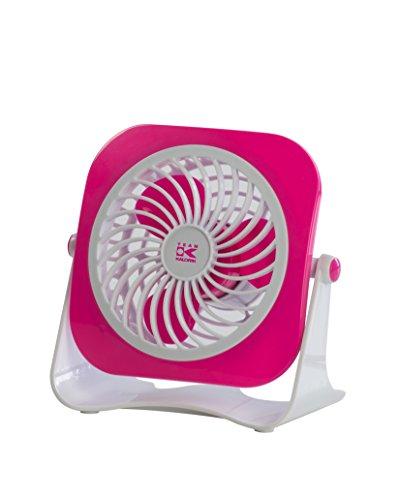 Preisvergleich Produktbild Team-Kalorik-Group USB Ventilator für den Schreibtisch, Ein- / Aus-Schalter, 1 Stück, rosa / weiß, TKG VT 1022 PINK