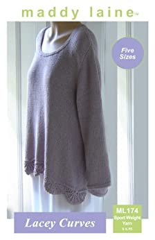 maddy laine Knitting Pattern - ML174 Lacey Curves by [Cranley, Maddy]