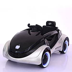 GetBest Battery Operated iRobot Kids Ride On Sports Car With Remote Control and Swing Option, 2-Piece, White