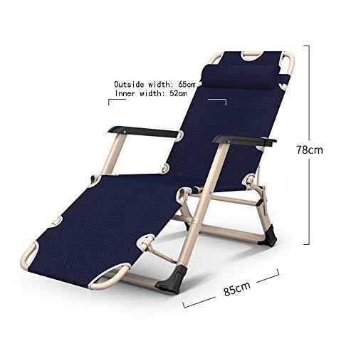 ZLL Fauteuil de fitness, chaises longues pliantes pour banquettes-banquettes - Installation gratuite et portable 3 chaises pliantes/Lits doubles/Lits simples/Lits paresseux pour le bureau // Li