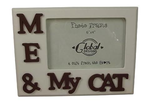 Me My Cat &-Cadre Photo chien-Idée cadeau