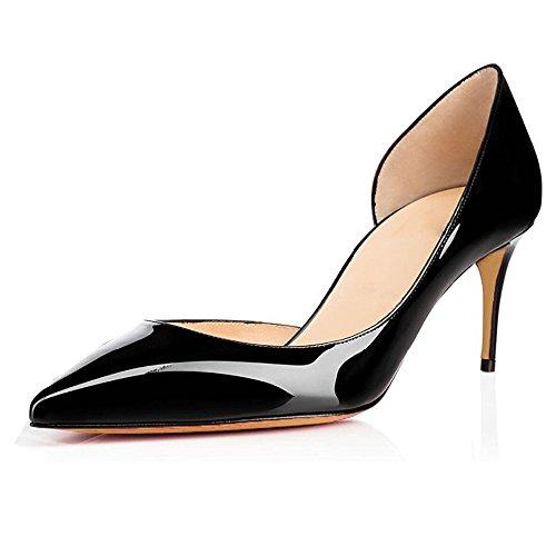 EDEFS Escarpins Femme Bout Pointu Talon Moyen Aiguille 6.5 CM Sexy Mode  Classique Chaussures 47dc7cf01e62