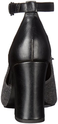 Nine West Bevy Toile Talons DGry-Blk