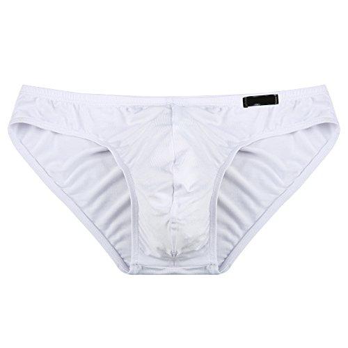 Yoliki Sexy Herren Slip Set aus Modal 4 pcs Set Männer Unterwäsche Unterhosen Weiß