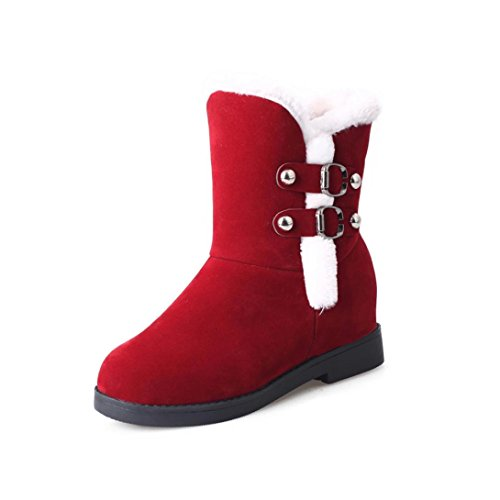 neige plateforme garder et femme chaud fourrure Bottes occasionnel Bureau Rouge bottines Transer® bottes Vêtements boots zCPqR