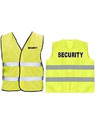 SECURITY Warnweste | Sicherheitsweste | Gelb | Brust- und Rückendruck