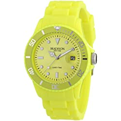 Madison New York Men's Quartz Watch U4167-21/2 with Plastic Strap