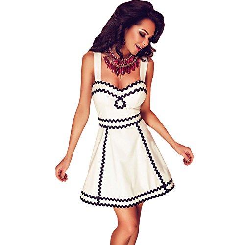 meinice-blanco-skater-vestido-con-negro-ondulado-detalle-blanco-blanco-large