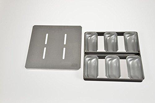 Hobbybäcker.de Mini-Stollen 6er-Formenverband mit Deckel