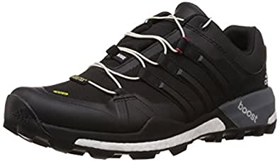 adidas Men's Terrex Boost Gtx Core Black, White and Grey Gore-Tex Trekking and Hiking Footwear Shoes - 10 UK