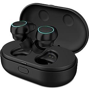 Holyhigh Auriculares Bluetooth Inalámbricos Mini Twins Stereo Auriculares Inalambricos con Caja de Carga y Micrófono Integrado para iPhone Android