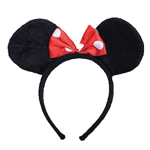 Dress Up America 503.0 Ms. Mouse Ohren, Kostüm, girls, Schwarz, Einheitsgröße