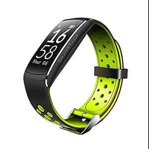 Sansun Watch Smart Fitness Sportwatch Zeit Datum Display Sitzende Kalorienverbrauch Messung Antiverlust Warnung Nachricht Benachrichtigung Sport Armbanduhr kompatibel mit Android und iOS System