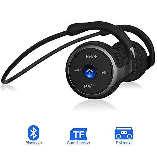 GRDE Cuffie Bluetooth Sport, 3 in 1 Multifunzionale Auricolare Bluetooth 4.1 Stereo, Auricolari Wireless Sweatproof IPX 4, Supporto TF Card e FM Radio, per iPhone, iPad, Samsung (BT998)
