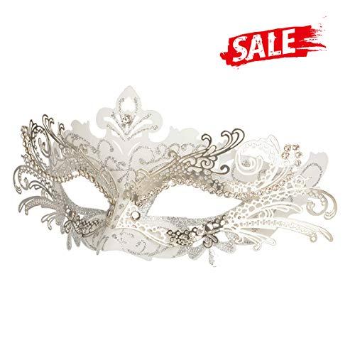 ke, Karneval Dekorationen Venezianische Masken für Frauen (Weiß) ()