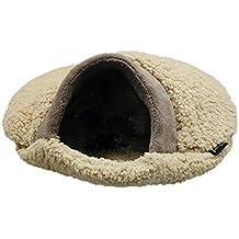 Blue-Yan Saco de Dormir para Gatos Suave y cálida Franela Calentamiento automático Cama para