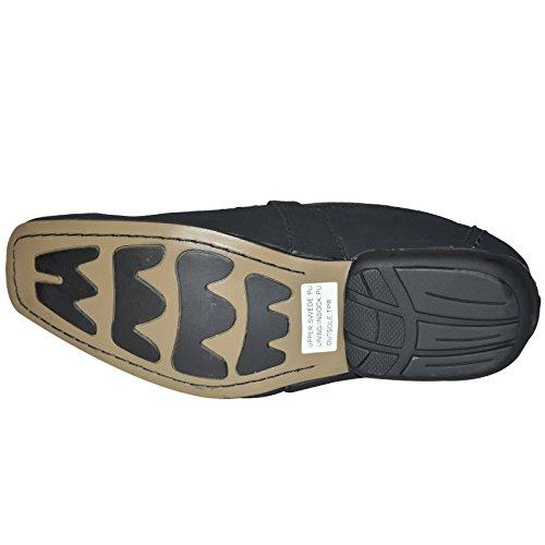 Mocassins pour homme Mocassins de Conduite Casual Noir formelle Appartements Chaussures Taille UK 6789101112 Black Suede Buckle