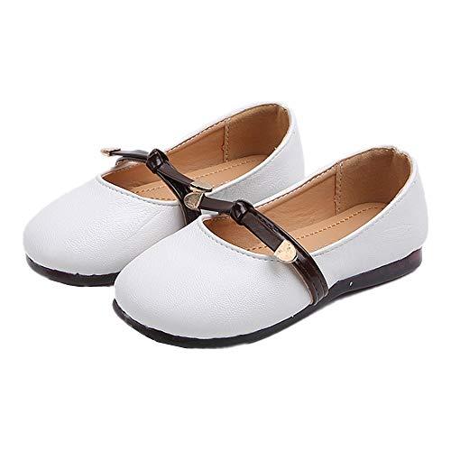 Chickwin Sandalen mädchen Schuhe 20-27, Frühling Sommer Strand Flach Schuhe Weicher Boden Urlaub Gemütlich Flache Party (26 EU=181mm, Weiß)