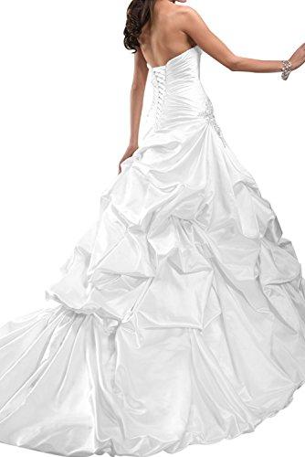 Gorgeous Bride Luxury Traegerlos prinzessin Satin HofSchleppe Brautkleider  Lang Hochzeitskleider Hellgruen