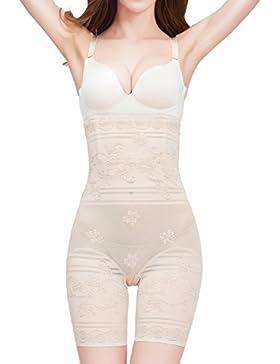 Amhillras Damen Miederpants Bauch weg Effekt Miederhose mit Bein figurenformende Shapehose Figur formende