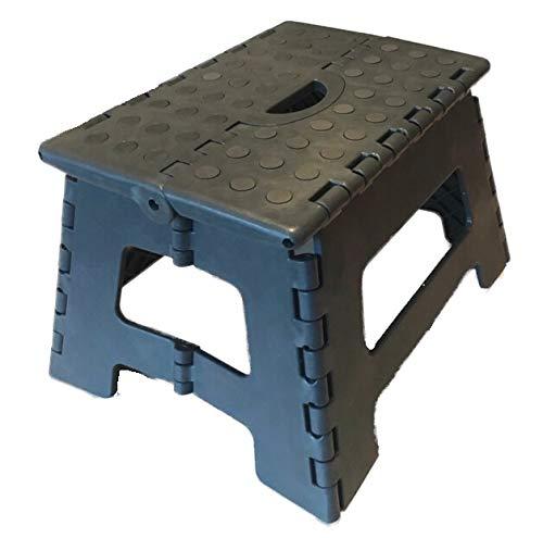 SBS Tritthocker 32 x 25 x 22 cm - bis 150 kg - tragbar rutschfest platzsparend Tritt Steigleiter (Grau)